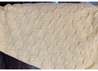 Tumbling Blocks Blanket Free Knitting Pattern