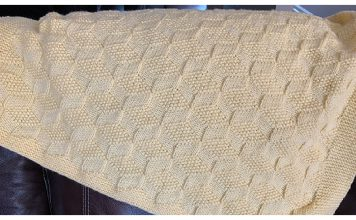 Tumbling Blocks Blanket Free Knitting Pattern