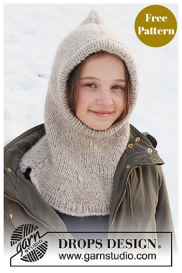 Warm Snuggles Kids Balaclava Hat Free Knitting Pattern
