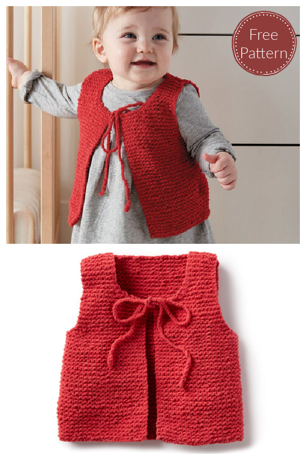 Wee Baby Vest Free Knitting Pattern