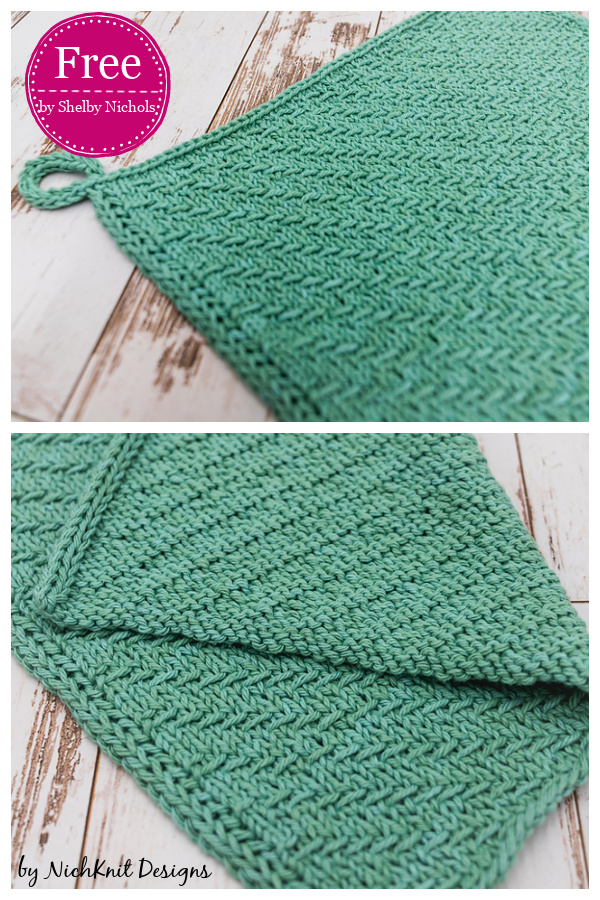 Woven Waves Dishtowel Free Knitting Pattern