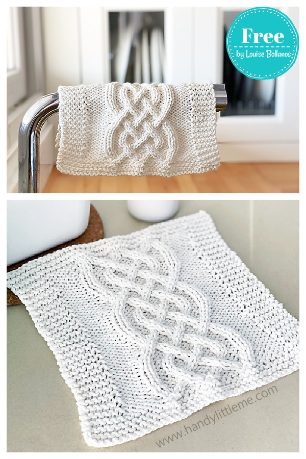 Celtic Cable Dishcloth Free Knitting Pattern