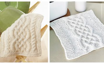 Celtic Cables Dishcloth Free Knitting Pattern