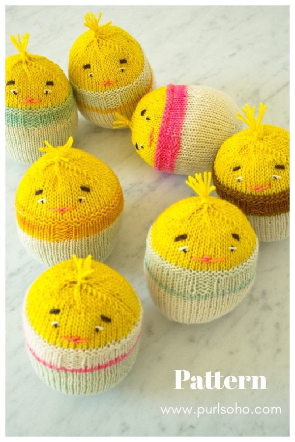 Chick-in-an-Egg Free Knitting Pattern