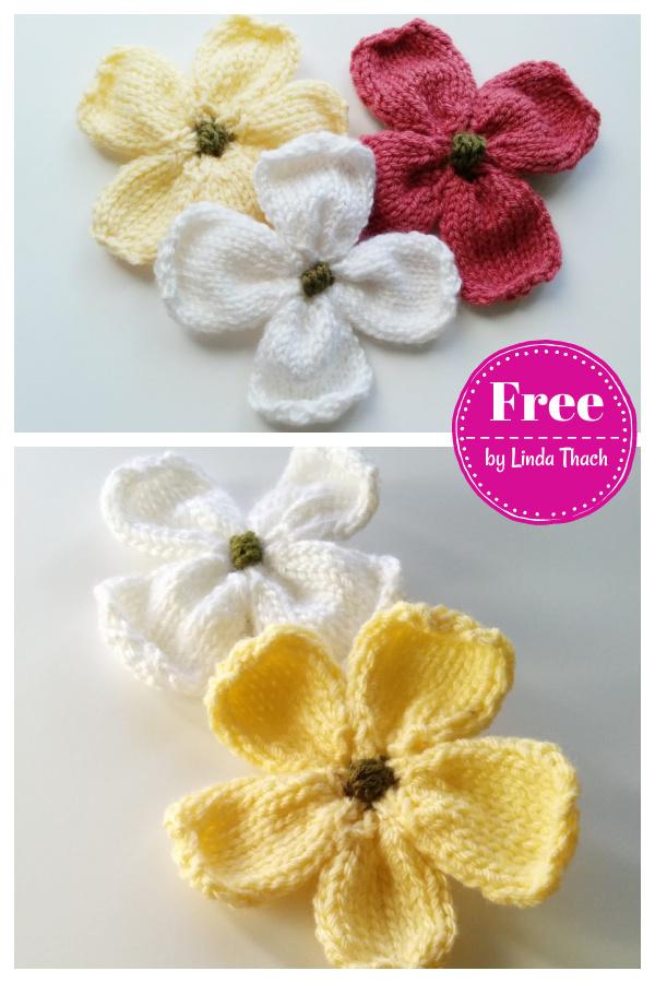 Dogwood Flowers Free Knitting Pattern