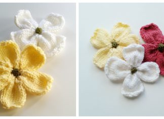 Dogwood Flowers Free Knitting Pattern
