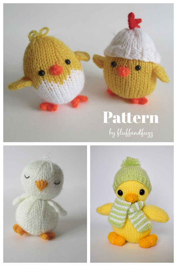 Easter Chick Toy Knitting Patterns
