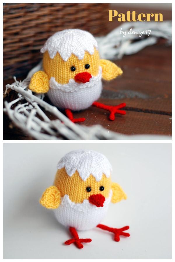 Easter Chicken Knitting Pattern