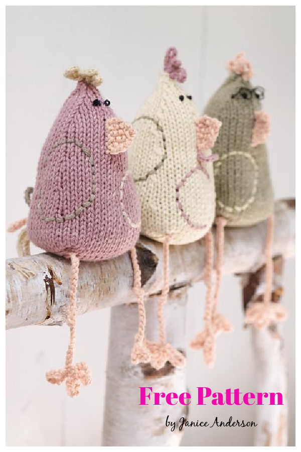 Easter Chickens Free Knitting Pattern