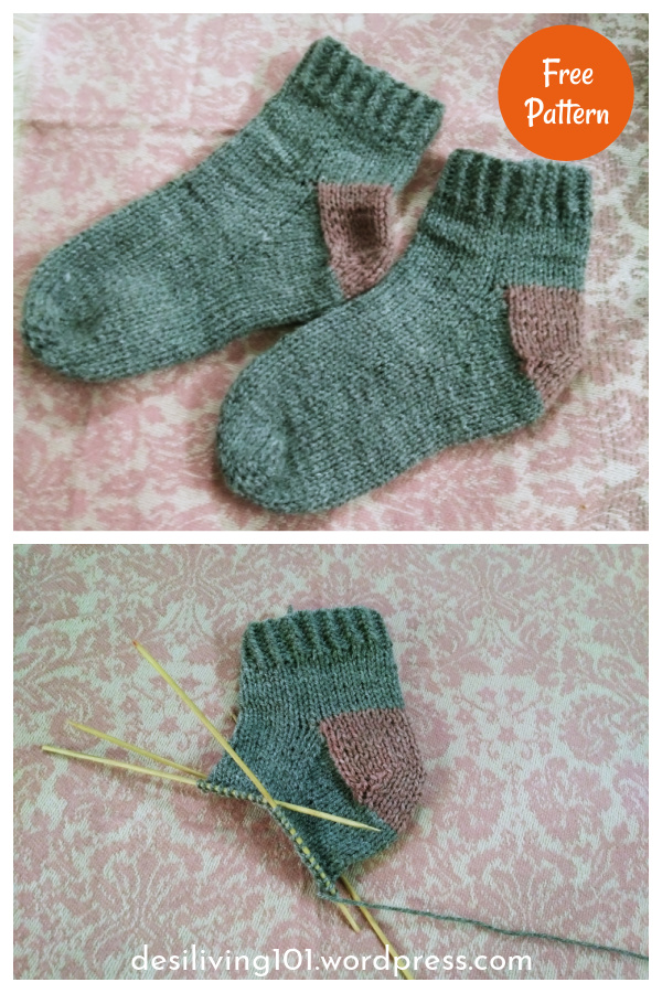 Easy Peasy Socks Free Knitting Pattern