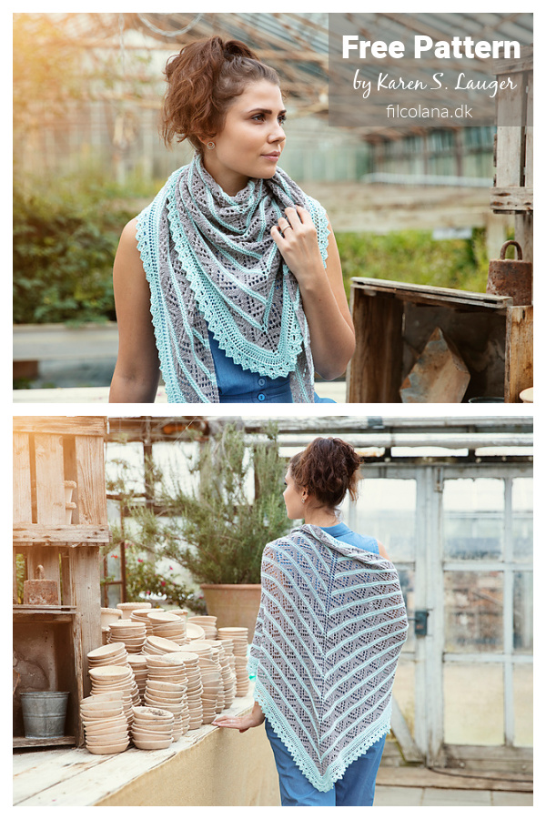 Modèle de tricot gratuit en dentelle d'eucalyptus