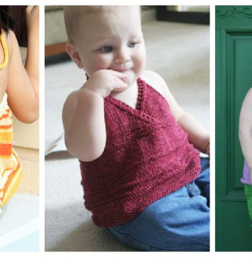 Girls Halter Top Free Knitting Pattern
