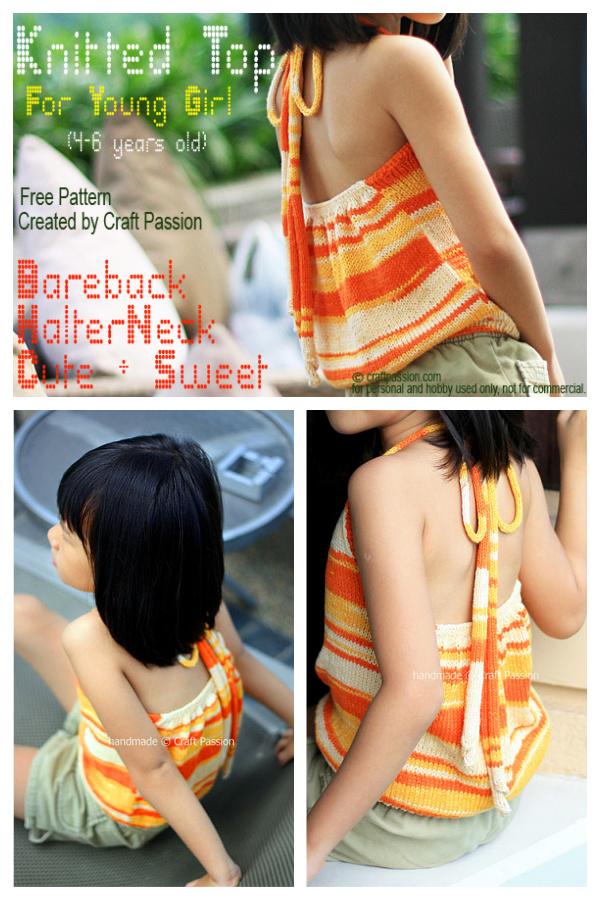 Halter Top Free Knitting Pattern