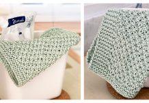 Irish Moss Stitch Dishcloth Free Knitting Pattern