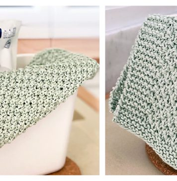 Irish Moss Stitch Dishcloth Free Knitting Pattern