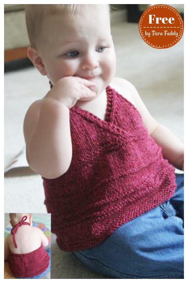 Katja Baby Halter Top Free Knitting Pattern
