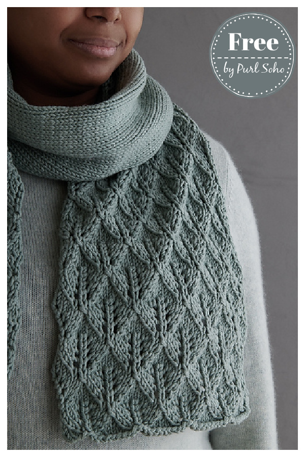 Leaf Lace Scarf Free Knitting Pattern