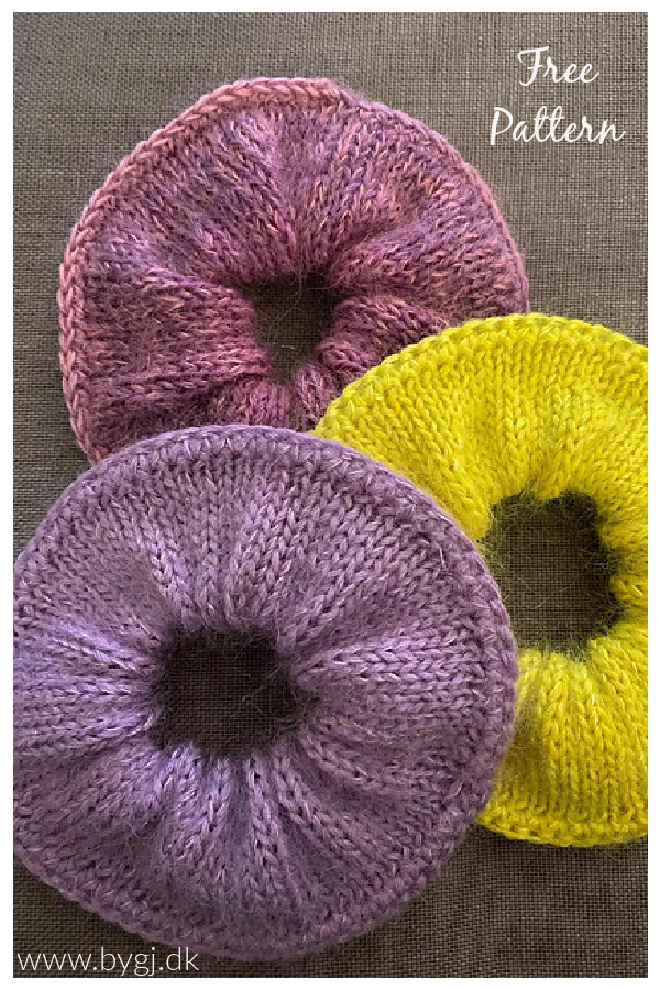 Luxury Mohair Scrunchie Free Knitting Pattern