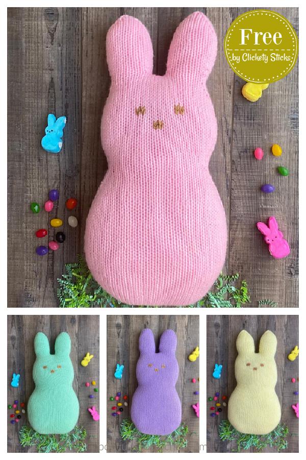 Patron de tricot gratuit de lapin de Pâques à la guimauve