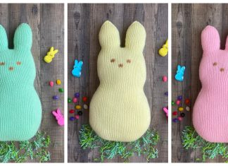 Marshmallow Easter Bunny Free Knitting Pattern