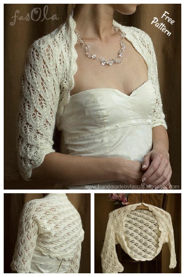 Matrimonio Bolero Wedding Shrug Free Knitting Pattern