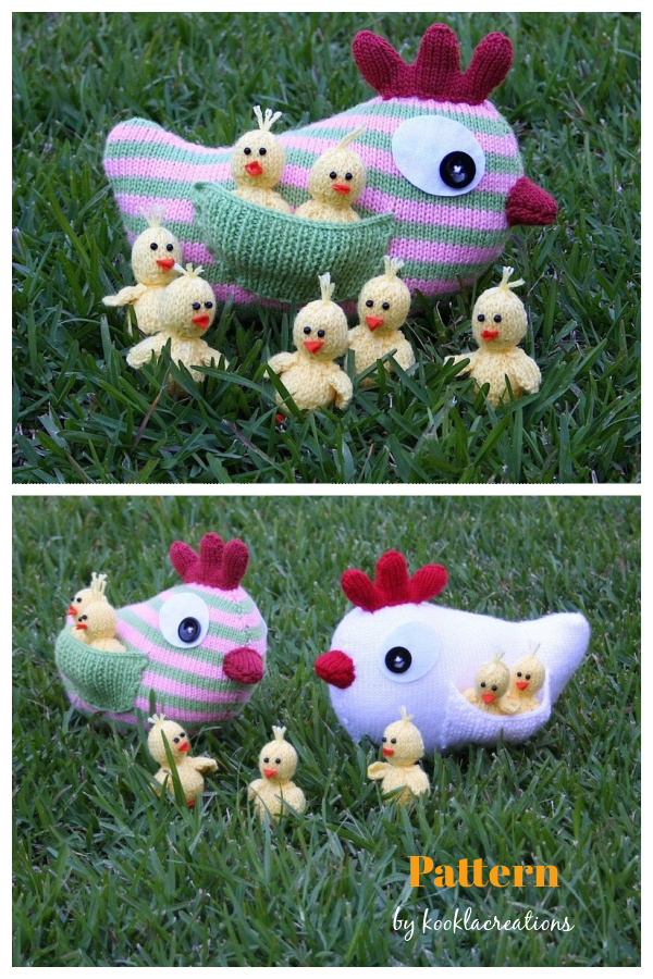 Mother Hen and Chicks Knitting Pattern