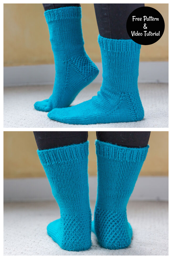 My First Socks Free Knitting Pattern and Video Tutorial