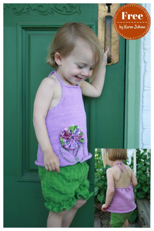 Posy Baby Halter Top Free Knitting Pattern