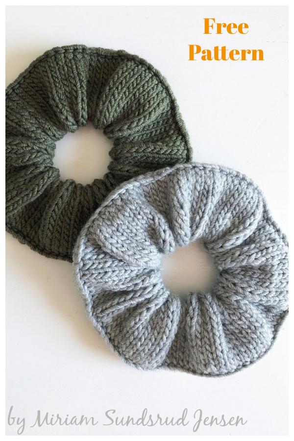 Scrunchie Free Knitting Pattern