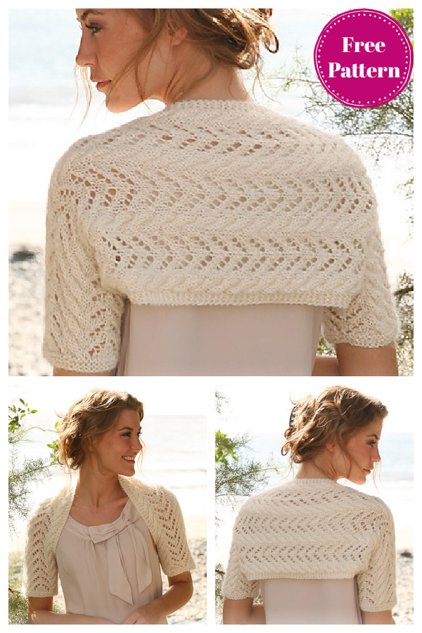 Secret Love Wedding Lace Shrug Free Knitting Pattern