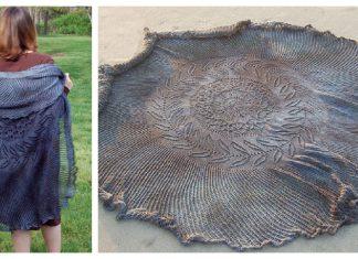Shipwreck Circular Shawl Free Knitting Pattern