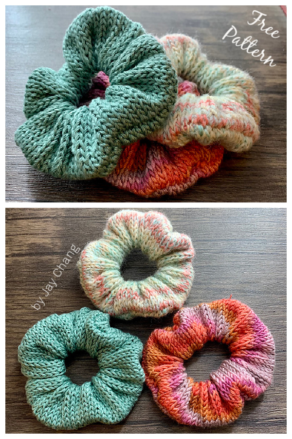 The Leftover Scrunchie Free Knitting Pattern