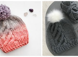 Up & Up Cable Hat Free Knitting Pattern
