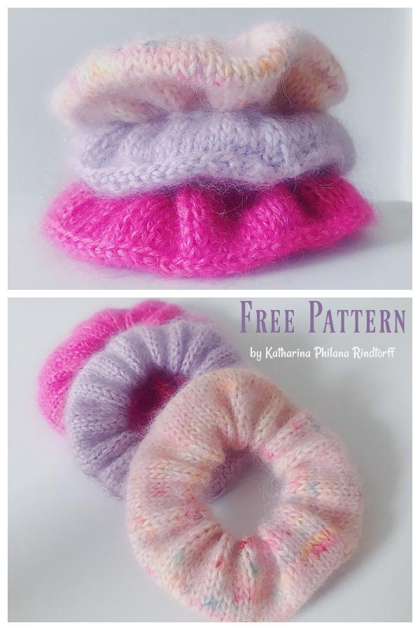 Wasteyarn Scrunchie Free Knitting Pattern