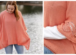 Wild Flower Poncho Free Knitting Pattern