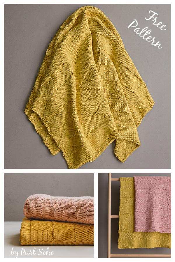 Woodcut Blanket Free Knitting Pattern