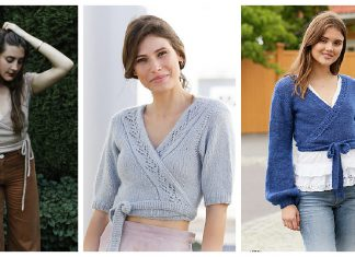 Wrap Top Free Knitting Patterns