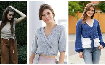 Wrap Top Free Knitting Patterns