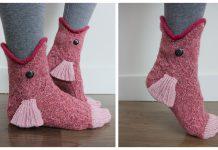 3D Fish Socks Knitting Pattern