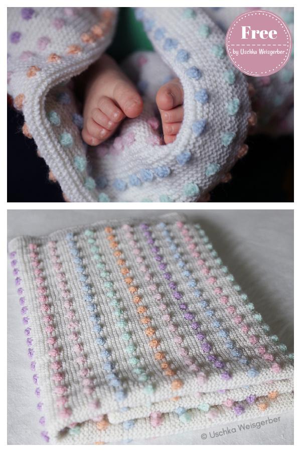 Patron de tricot gratuit pour couverture bébé au point bobble