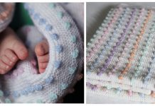 Bobble Stitch Baby Blanket Free Knitting Pattern