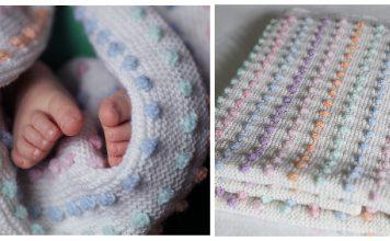 Bobble Stitch Baby Blanket Free Knitting Pattern