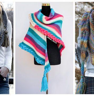 Braid Shawl Free Knitting Pattern