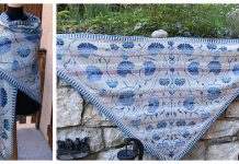 Chèvrefeuille Triangle Shawl Free Knitting Pattern
