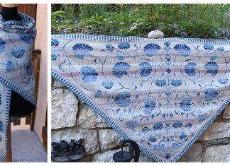 Chèvrefeuille Triangle Shawl Free Knitting Pattern