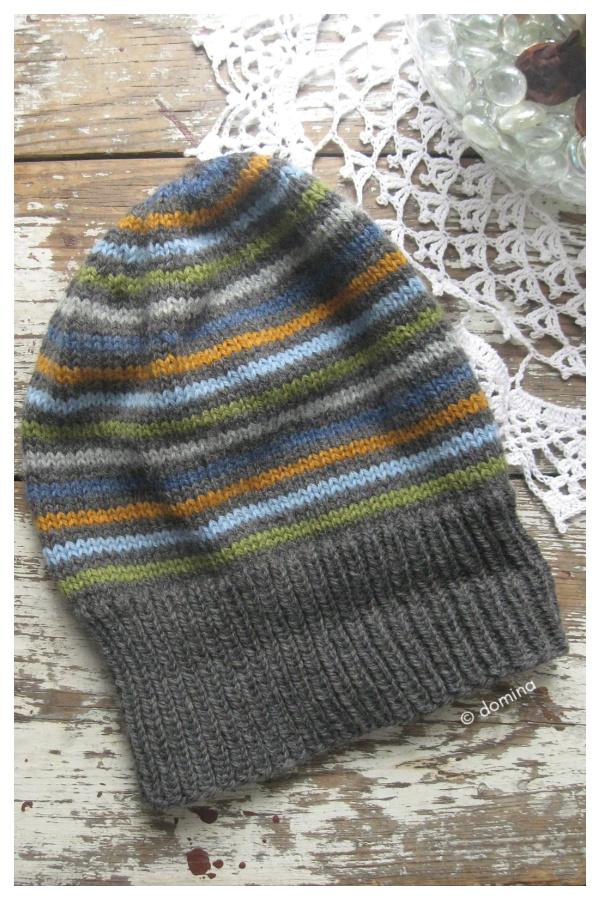 Destashification Slouch Hat Free Knitting Pattern