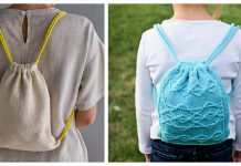 Drawstring Backpack Knitting Patterns