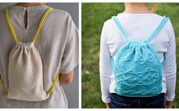 Drawstring Backpack Knitting Patterns