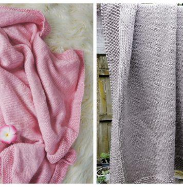 Easy Stockinette Stitch Blanket Free Knitting Pattern
