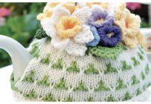 Flower Tea Cosy Free Knitting Pattern